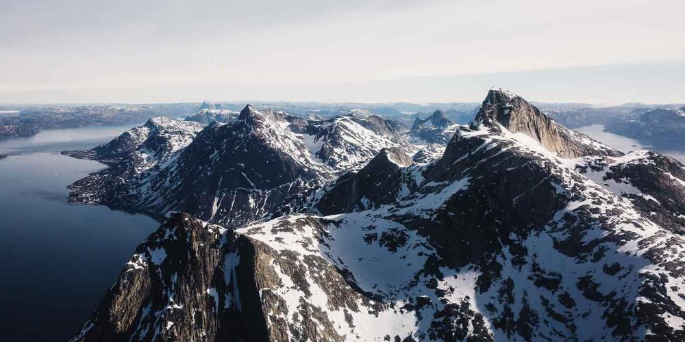 Qingaaq mountain in Nuuk fjord, Greenland