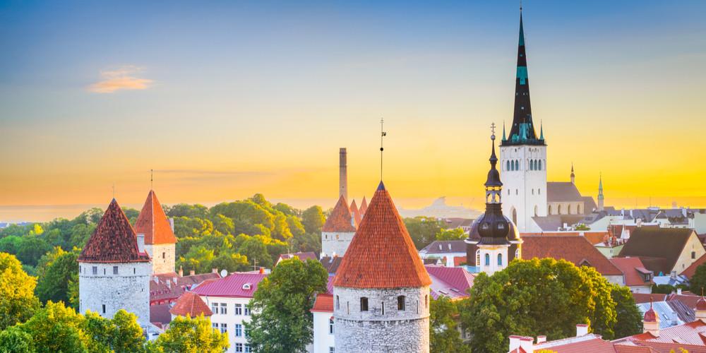 Old city skyline, Tallinn, Estonia