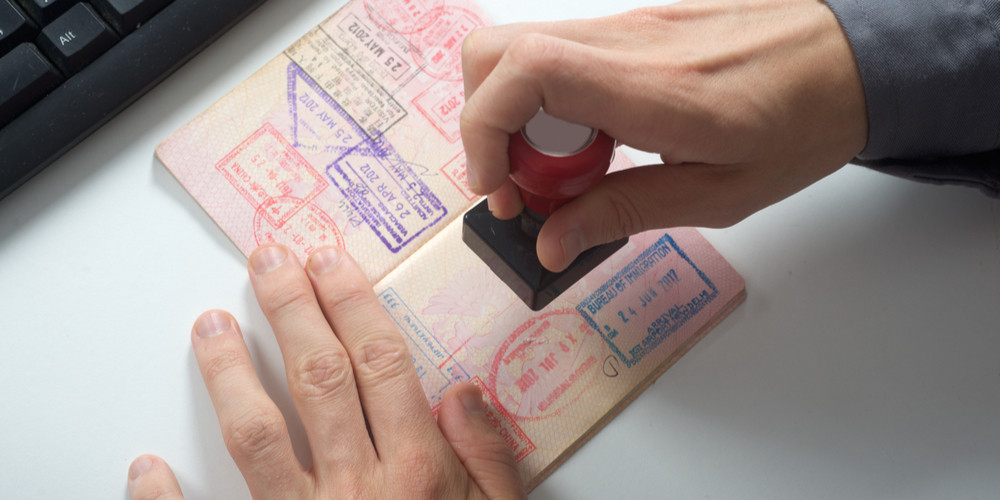 Immigration control officer will have passport arrival stamp