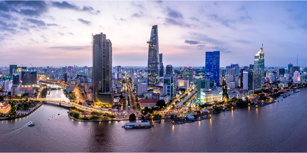 Developed financial and business centers in Vietnam
