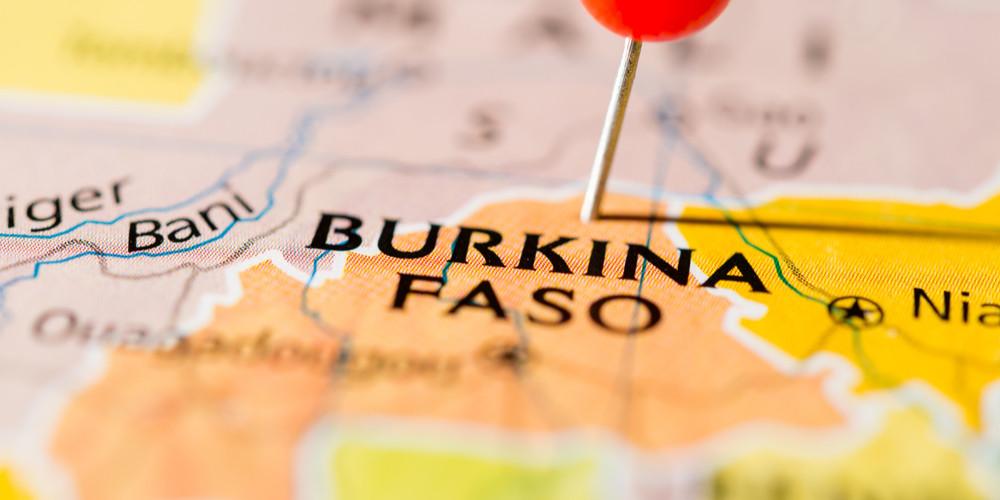 Burkina Faso on the map