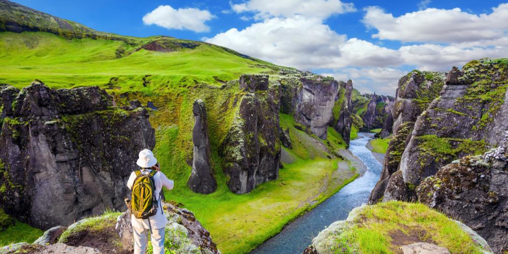 The striking canyon Fyadrarglyufur in Iceland