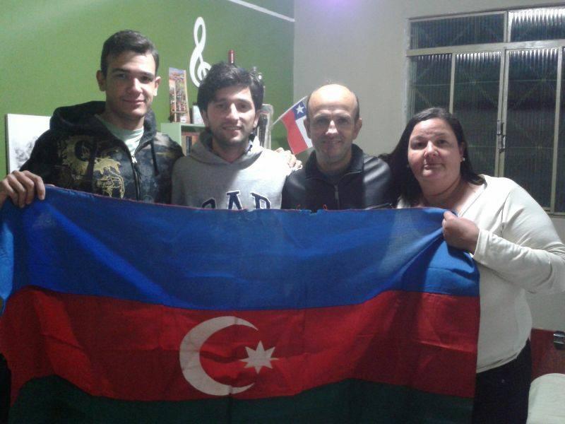 Azerbaijan flag in favela