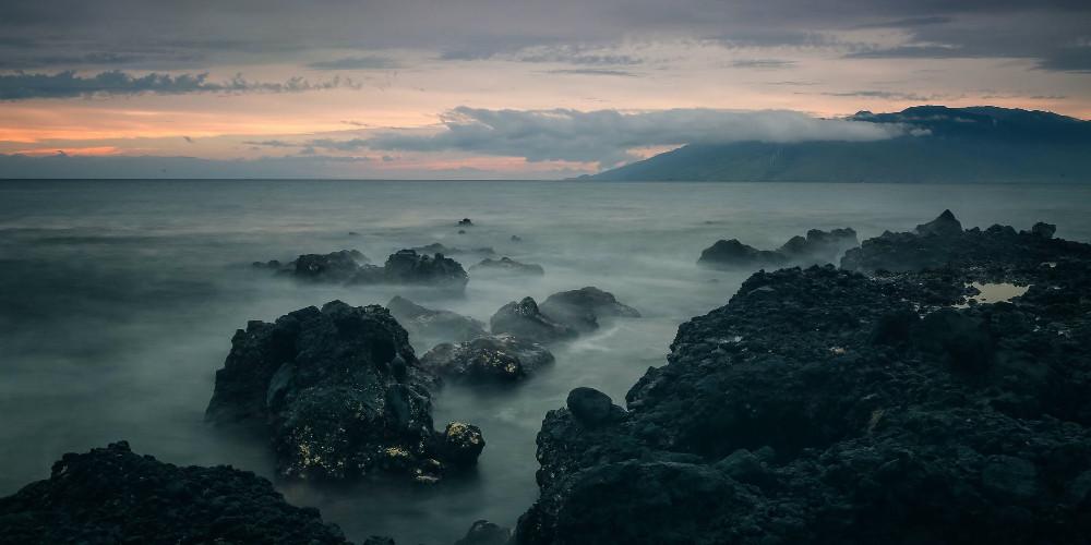 Rocks on seashore, Jersey Island