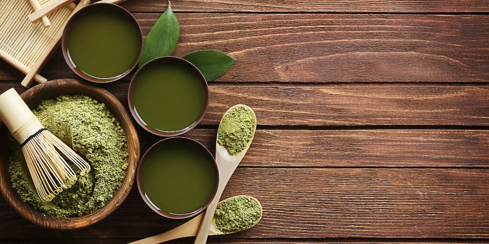 Green unusual drinks