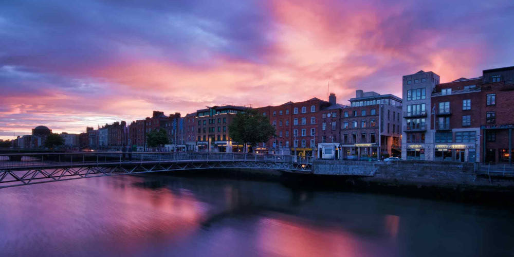 buildings with waterfront view, Ireland