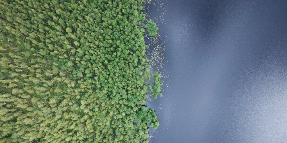 Lake from above, Belarus