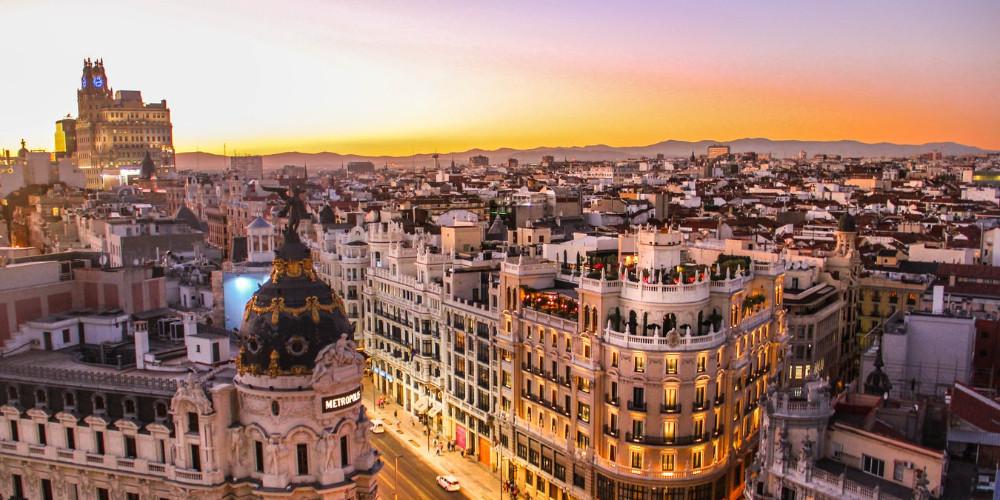 Calle Gran Vía, Madrid, Spain