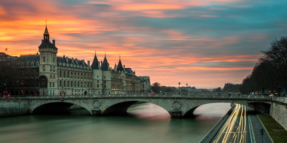 Sunset over the Loire River