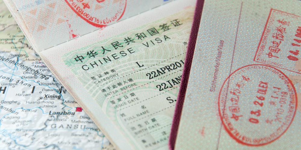 Chinese visa in passport
