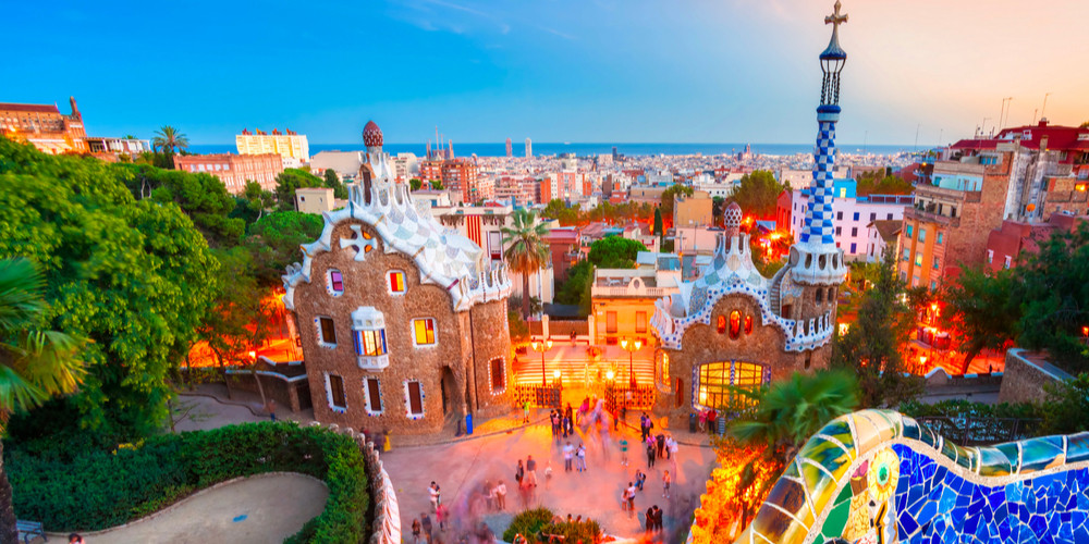 Panoramic view of the city of Park Guell