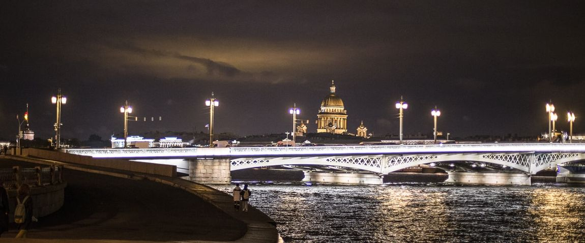 Blagoveshchenskiy bridge in russia