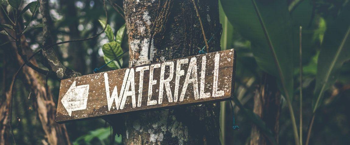 waterfall sign