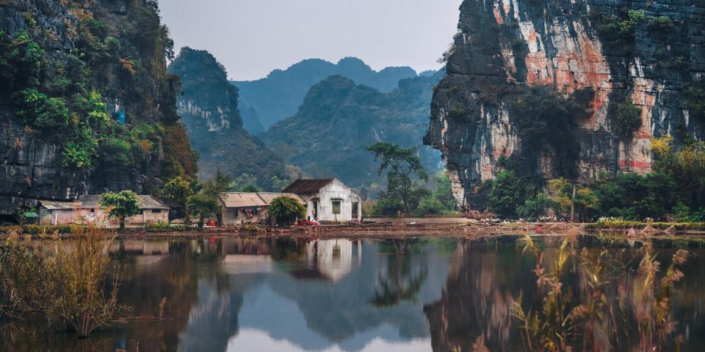 Farm between two valleys, Ninh Bình, Vietnam
