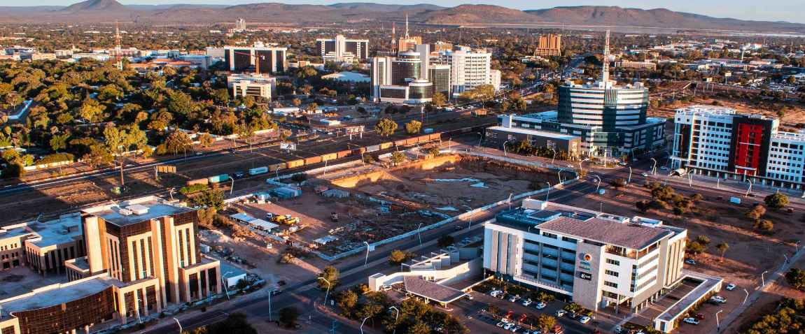 aerial view of gaborone