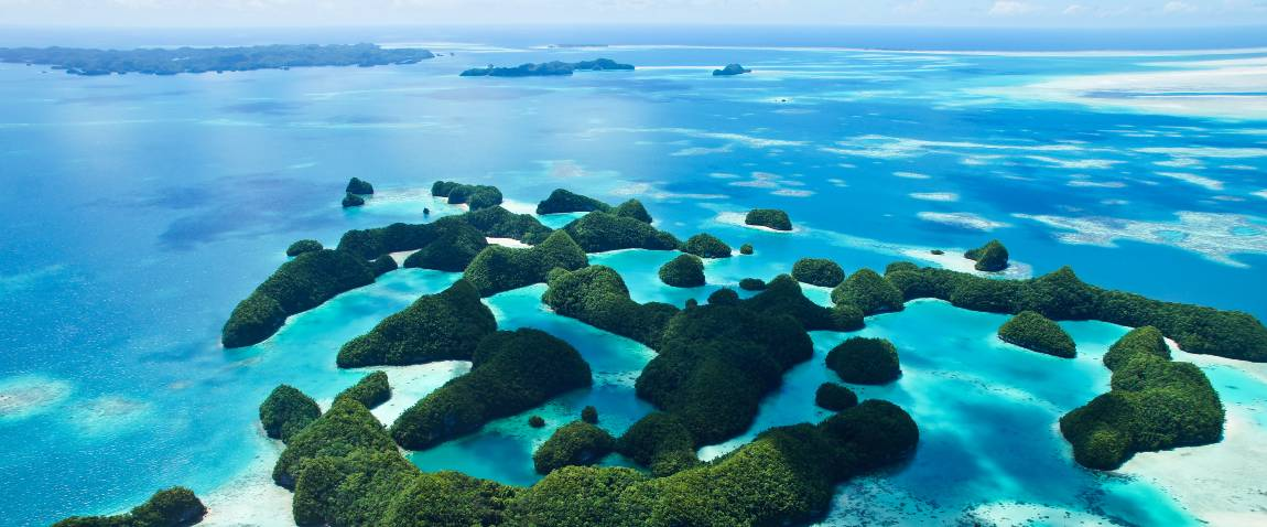 aerial view of islands