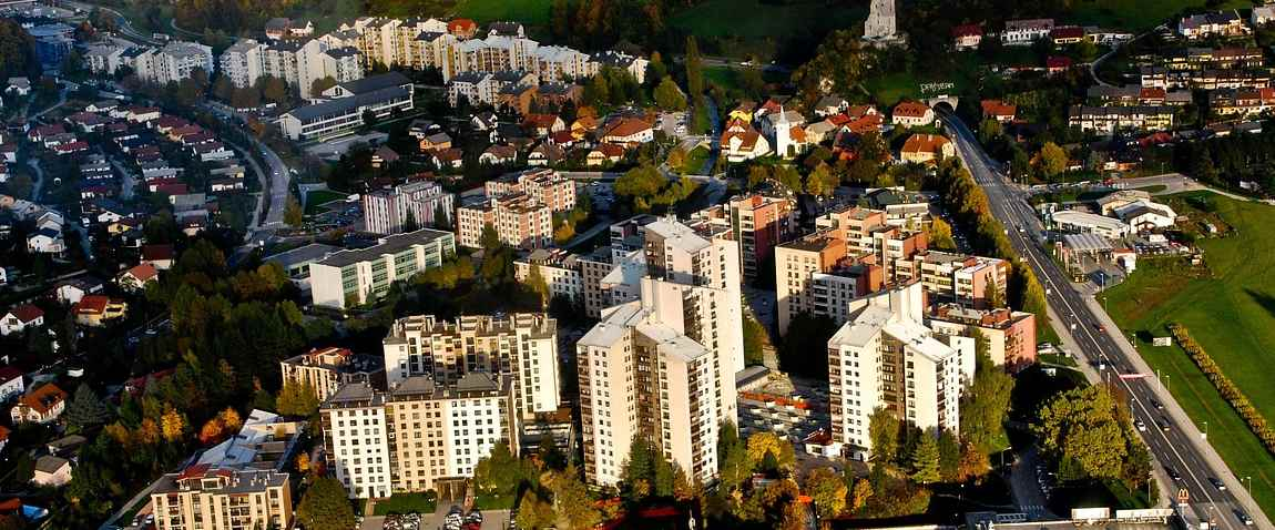 aerial view of ljubljana