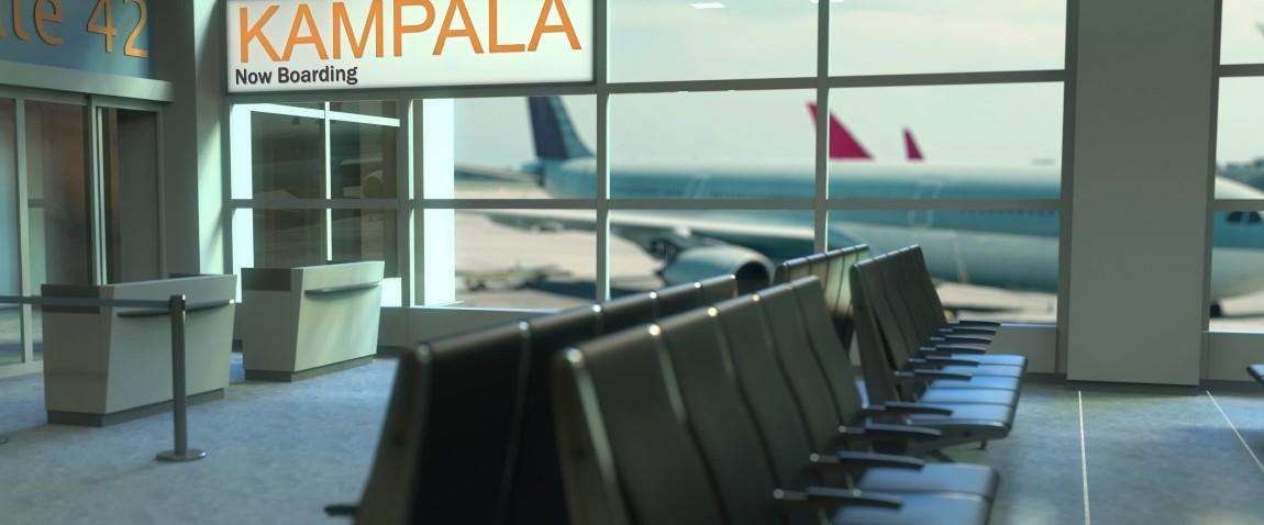 aeroport terminal puteshestvie v ugandu