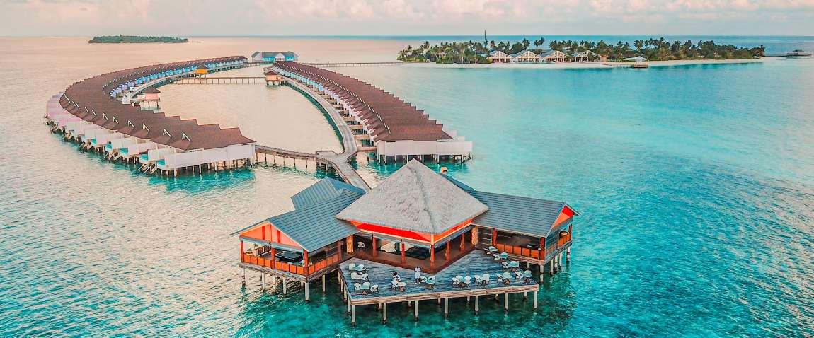 amazing view of maldives island
