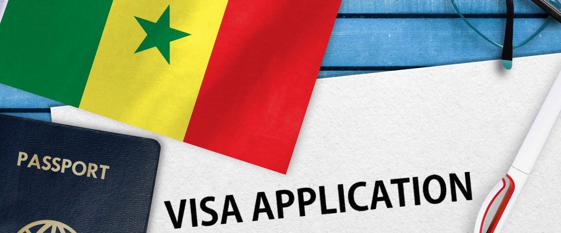 anketa zayavlenie na vizu i flag senegala