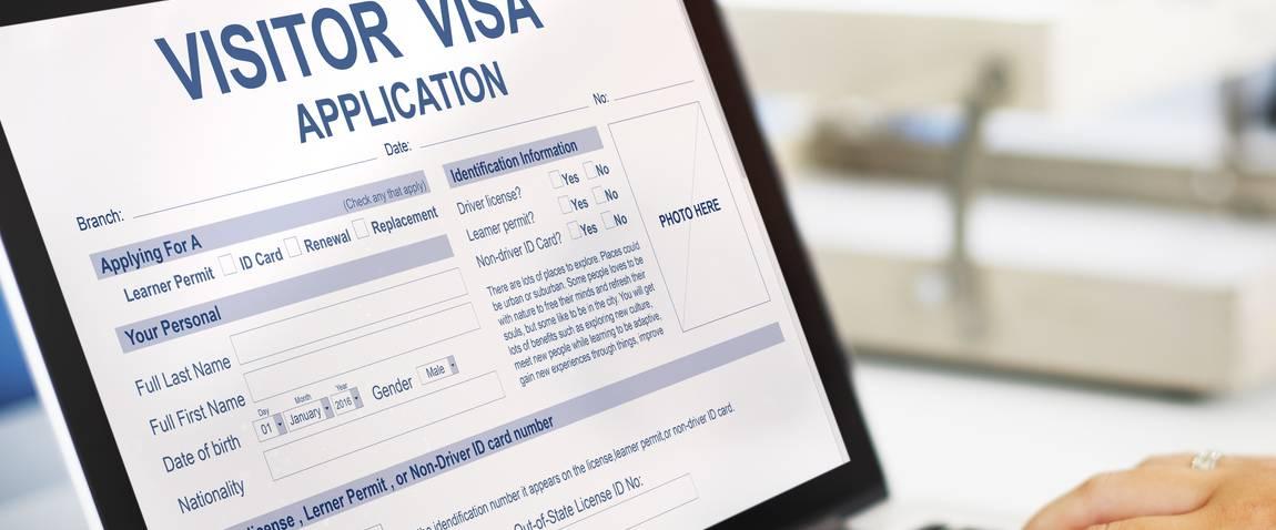 online visa application form