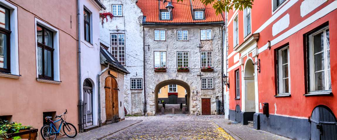 medieval street of riga