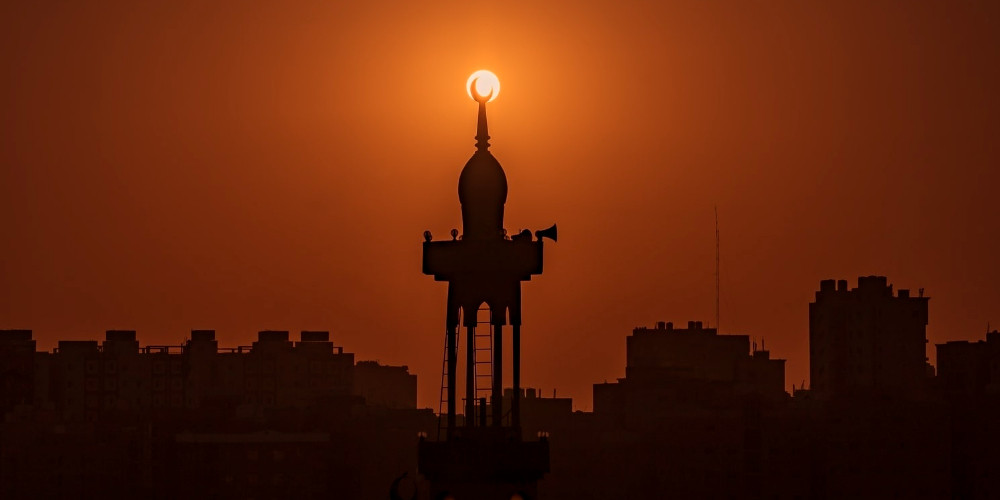 Sunrise over the Mosque