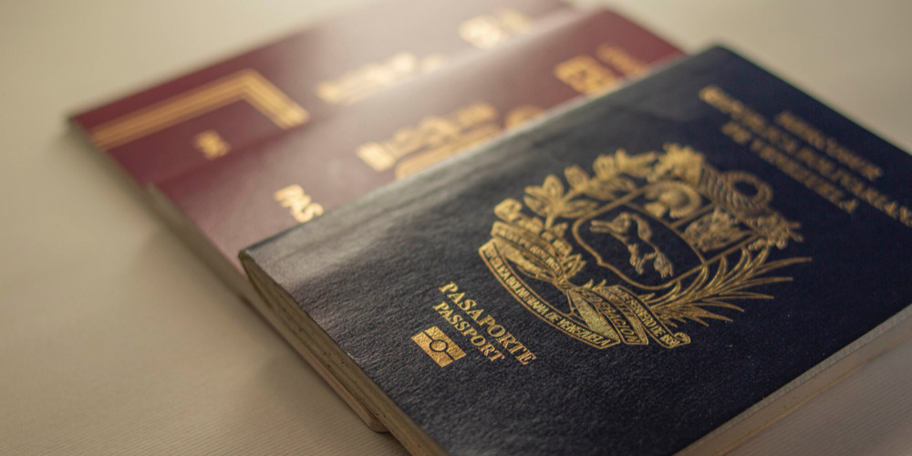 Passport for travel and documentation of Venezuela
