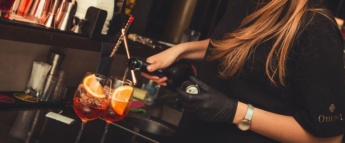 bartender making a show
