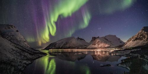 Look at the northern lights. A trip to Lapland