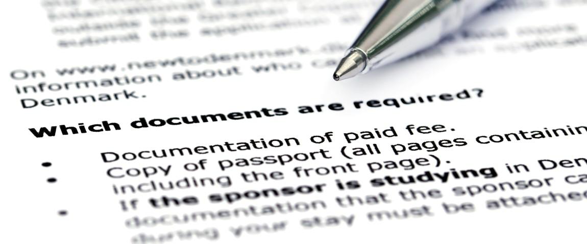 visa application requirement