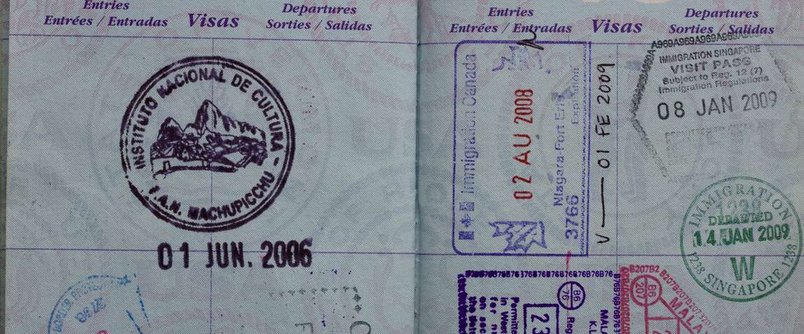 canada visa stamp