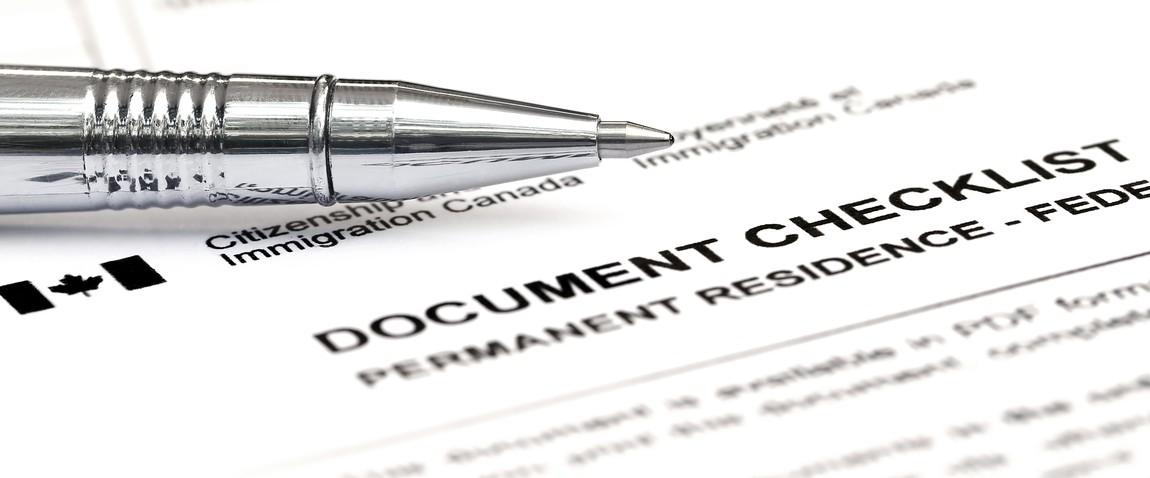 canada visa form checklist