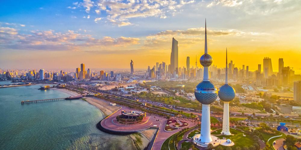 Vibrant Sunset over Kuwait City