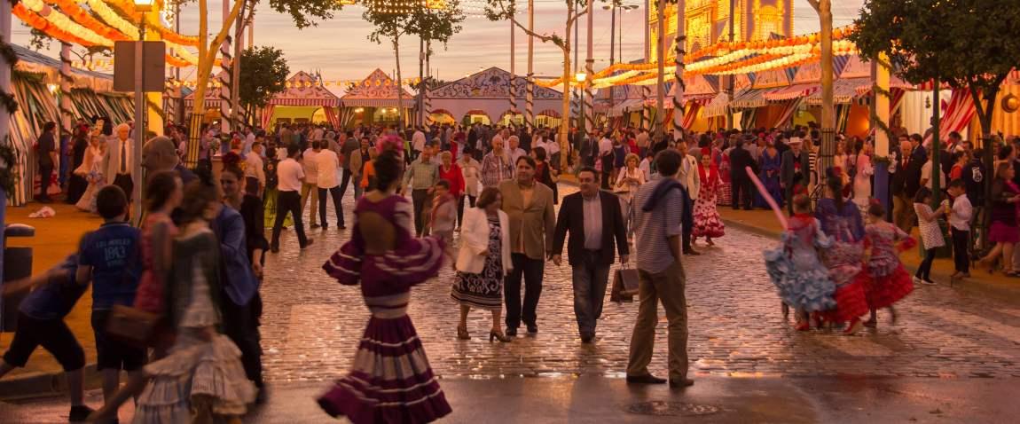 celebrating at the sevilles fair