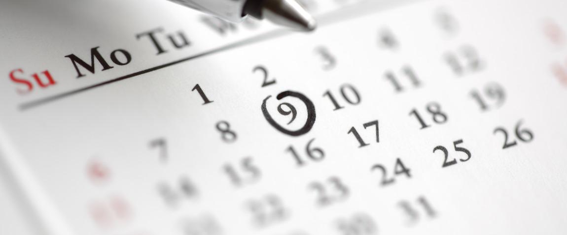 circle marked on a calendar