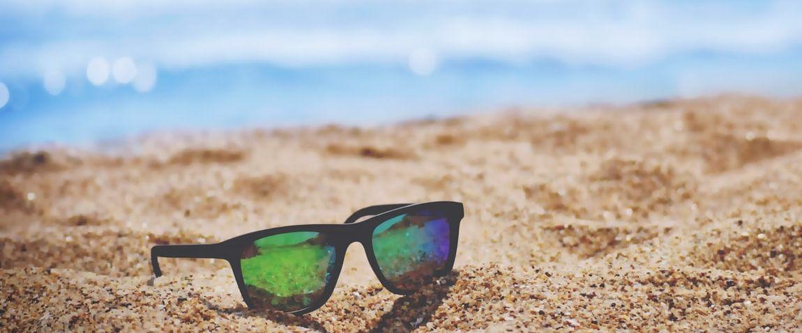 clean sandy beach