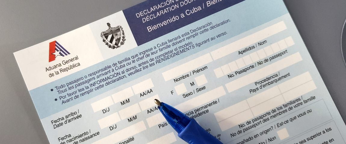 cuba visa declaration