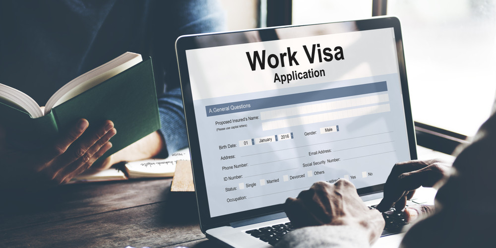 Business Visa Application Employment Recruitment Concept