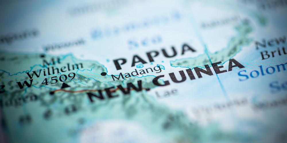 Papua New Guinea on the map