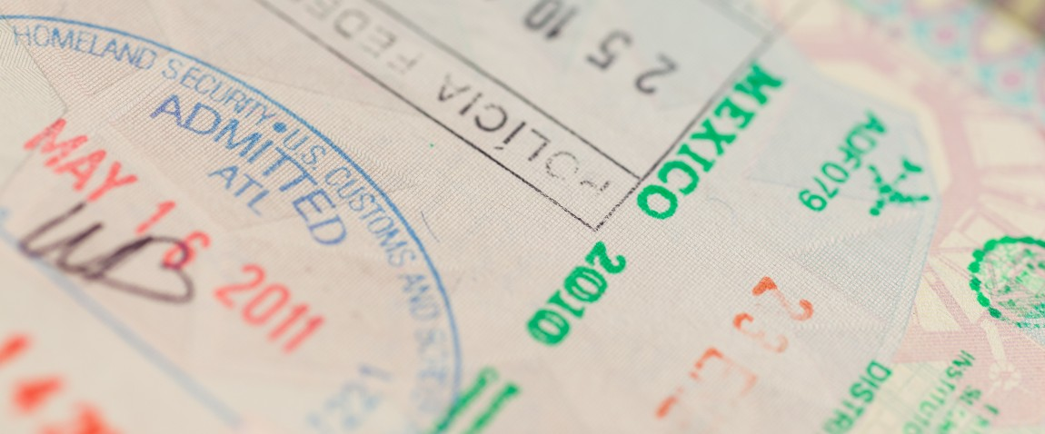 detail of passport