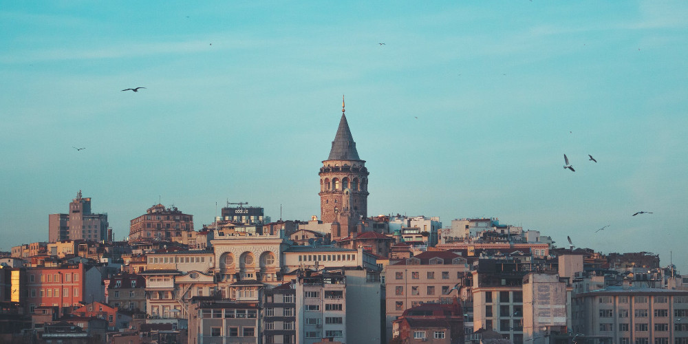Brown concrete building under blue sky, Istanbul