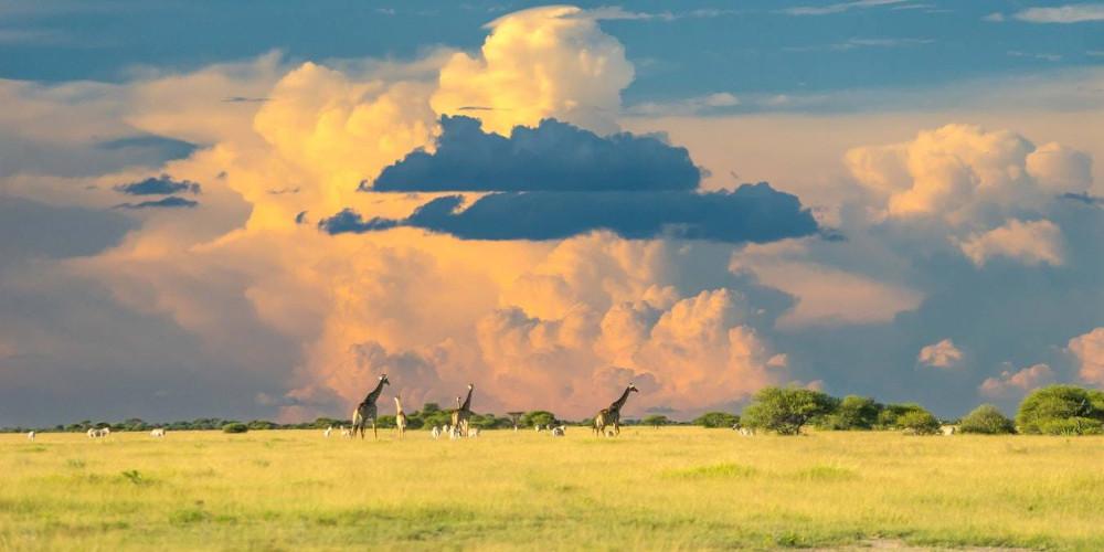 Clouds just before sunset, Gaborone, Botswana