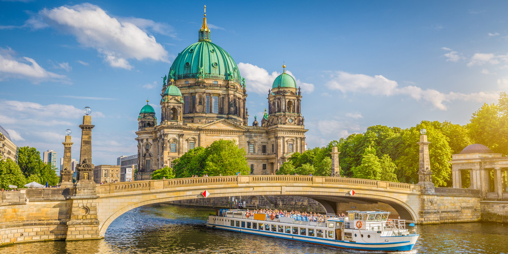 Beautiful view of historical Berlin Cathedral on famous Museum Island