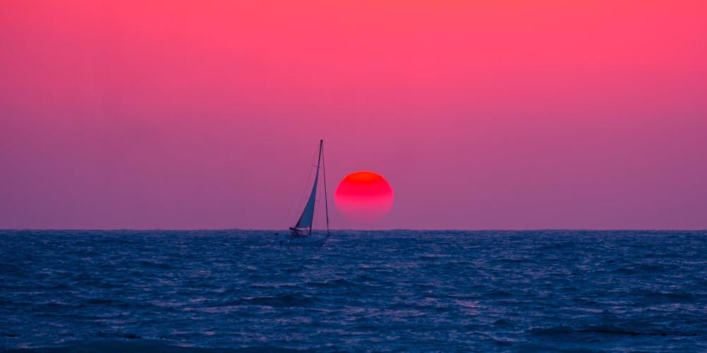 Silhouette photo of watercraft, Togo