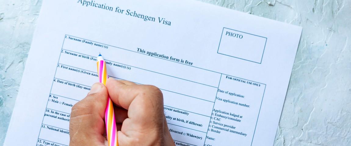 filling iceland schengen visa form