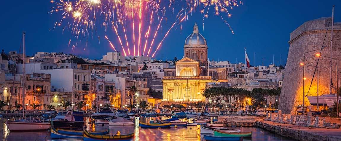 fireworks in valletta