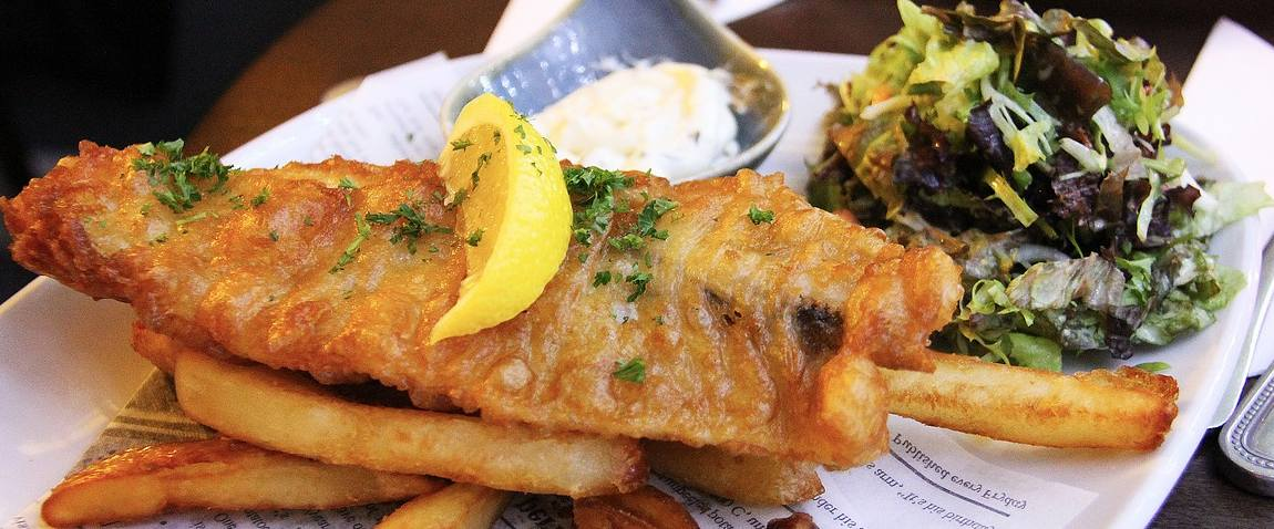 fish and chip fried