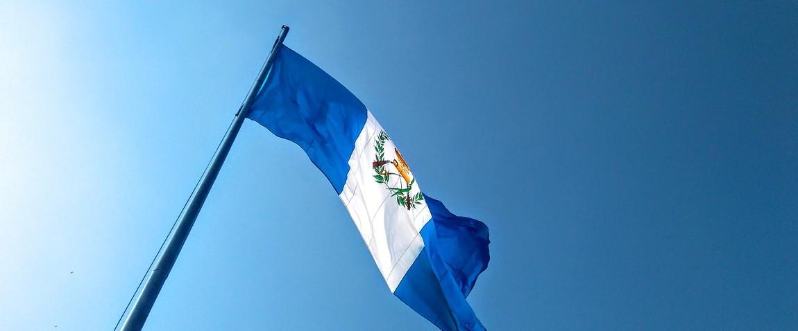 flag of guatemala waving
