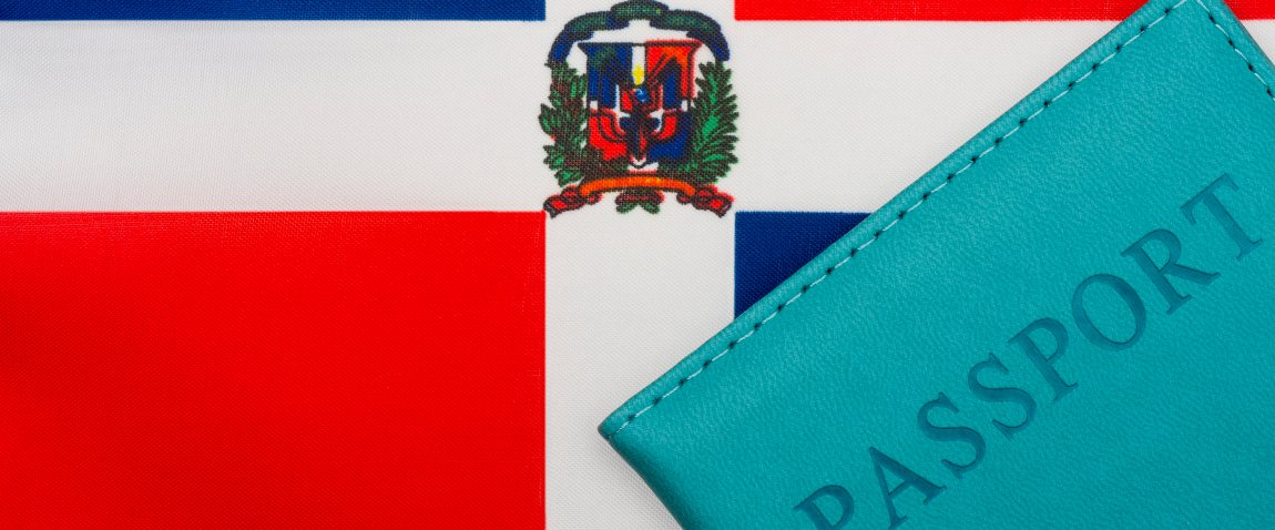 flag of the dominican republic and passport